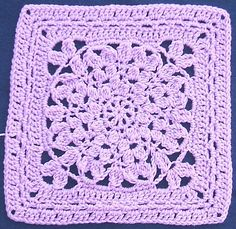Ravelry: Mum's the Word Square pattern by April Moreland --could add more petal rows and keep round, too.