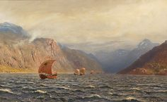 Hans Dahl (1849–1937): Armada av vikingskip