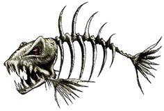 Bone Fish Decal Color - Fishing Net Shirt - Ideas of Fishing Net Shirt - Bone Fish Decal Color Fish Bone Tattoo, Bone Tattoos, Fish Tattoos, Tatoos, Tattoo Pez, Desenho New School, Arte Punk, Fish Skeleton, Fish Drawings