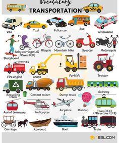 Vocabulary transportation.