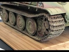 Painting and weathering 1/35 scale model tank tracks - YouTube