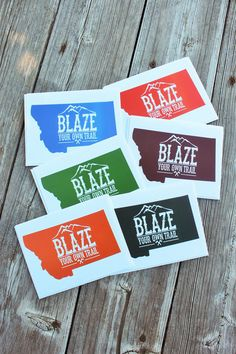 Blaze Your Own Trail Notecard Set from The Montana Way