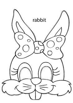 bunny mask for kids free printable - bunny mask for kids . bunny mask for kids free printable . bunny mask for kids diy paper Easter Bunny Template, Easter Templates, Bunny Templates, Bunny Ears Template, Easter Printables, Rabbit Crafts, Bunny Crafts, Easter Crafts For Kids, Animal Mask Templates