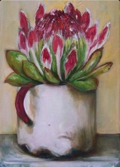 Resultado de imagen para abstract oil painting of proteas Flor Protea, Protea Art, Protea Flower, Oil Painting Abstract, Watercolor Paintings, Cottage Art, Acrylic Flowers, Art Pictures, Flower Art