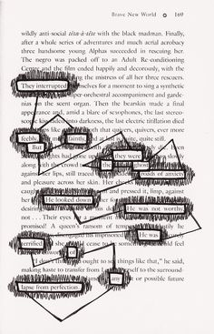 Blackout Poetry (Stoke your creative juices with this unique poetry style) - Liesel Palitzsch Poetry Art, Poetry Quotes, Book Quotes, Words Quotes, Me Quotes, Writing Poetry, Sayings, Erasure Poetry, Found Poem