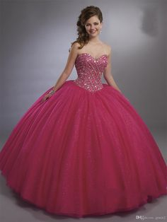 Magenta Quinceanera Dresses 2017 Mary's with Sheer Bolero and Major Beading Crystals Bodice Shimmering vestidos de 15 anos Aqua Color Sweet 16 Dresses, 15 Dresses, Ball Dresses, Cute Dresses, Ball Gowns, Fashion Dresses, Girls Dresses, Formal Dresses, Purple Quinceanera Dresses