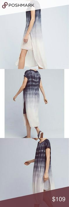 Anthropologie Horizon Fade Dress Rayon; rayon lining Relaxed tunic silhouette Side-slit detail Pullover styling Machine wash Anthropologie Dresses