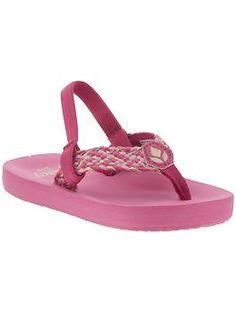 just like their mama - my girls love flip flops