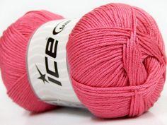Baby AntiBacterial Rose Pink knitting yarn from ice yarn