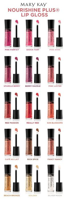 Are you ready to GLOSS IT OUT? NouriShine Plus® Lip Gloss gives you a brilliant shine and an instant boost of moisture that leaves lips feeling nourished. With 15 different shades of lip gloss in a range of finishes, you're sure to pick more than one. Find them at https://www.marykay.com/mvillavicencio1   Not ready to purchase? Order your FREE Mary Kay Beauty Catalog (choose either paper or digital or both!) by emailing pamperinginpink@gmail.com to register send a message with your name…