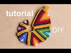 ▶ tutorial colgante macramé arcoiriz - YouTube