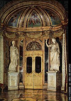 Detail of the interior of Rondanini Aldobrandini Palace , Rome , Italy