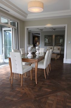 Antique Floors provide you with the best parquetry oak flooring as well as hardwood country plank of many types. Parquetry, French Oak, Plank, Your Design, Kitchens, Dining Table, Flooring, Antiques, Wood