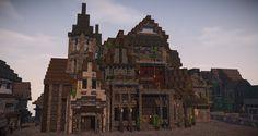 Minecraft #weareconquest Minecraft Designs, Minecraft Ideas, Minecraft Houses, Minecraft Structures, Minecraft Medieval, Fallout Art, Minecraft Architecture, Lego Castle, Fantasy Inspiration