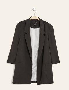veste de tailleur longue noire