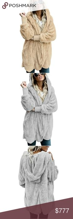 0f131868624 Host Pick 💕Plus Size Open Hooded Sherpa Jacket This new in Soft Fleece  Hooded Open