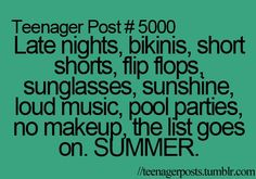 To Do list for this summer