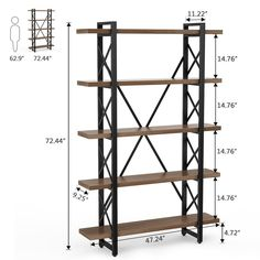 Vintage industrial furniture – Eclectic Home Decor Today Metal Bookcase, Industrial Bookshelf, Etagere Bookcase, Wood Shelves, Shelving, Modern Industrial Decor, Vintage Industrial Furniture, Industrial Style, Industrial Office