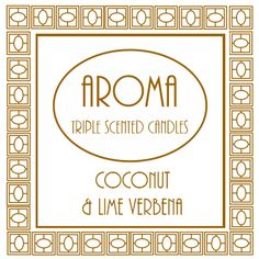 Coconut & Lime Verbena Scented Candle