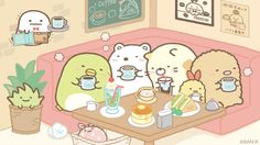 sumikko_335  11月12日 喫茶すみっコのコーナー席はとってもおちつくみたいです・・・ #喫茶すみっコ