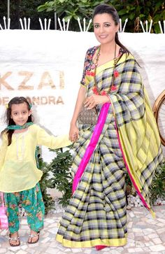 Mini Mathur with her daughter at the launch of Alvira Agnihotri's new store…