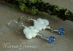 Summer Rain, Drop Earrings, Jewelry, Ear Piercings, Corning Glass, Jewlery, Jewerly, Schmuck, Drop Earring