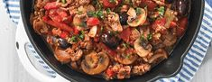 Skillet Turkey Cacciatore | BJs Member Journal I increase the spices, garlic, and anchovies.  Might be improved with some wine added.