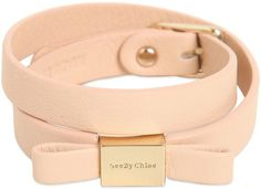 Double Wrap Leather Bracelet With Bow