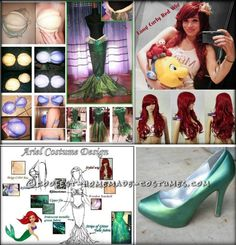 Coolest Ariel the Little Mermaid Halloween Costume ... This website is the Pinterest of costumes