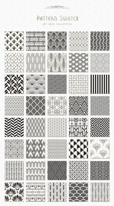 Art Deco Seamless Patterns Bundle:
