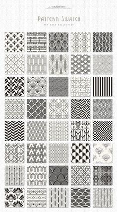 Art Deco Seamless Patterns Bundle: