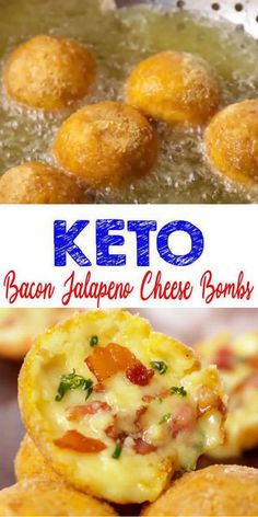 Keto Cheese Bombs! AMAZING ketogenic diet Bacon Jalapeno Cheese Bombs - Easy simple ingredient cheesy low carb Bacon Jalapeno Bombs. BEST keto dinner, keto snacks, keto side dishes or keto lunch idea.Try a simple & quick homemade #keto cheese bombs easy ingredient. Gluten free, sugar free, healthy keto cheese recipe.Great sweet & savory treat for a low carb diet.Great for Christmas appetizers, New Years or Valentines. Great for parties too. #easyrecipe