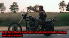 Daryl Dixon is my kinda man, who rides my kinda bike.