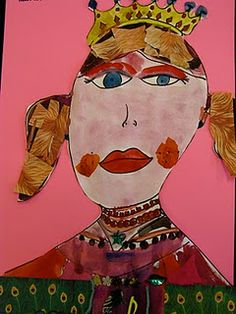Fairy Tale Self Portraits by 1st Grade