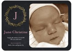 This is so sweet. Such a classic birth announcement.