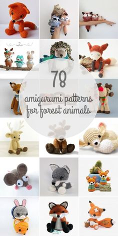 Amigurumi Patterns For Forest Animals