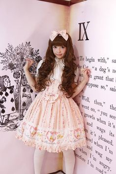 Misako Aoki in Sweet Lolita  LOVE HER!  I would love to meet her someday. :3 <3