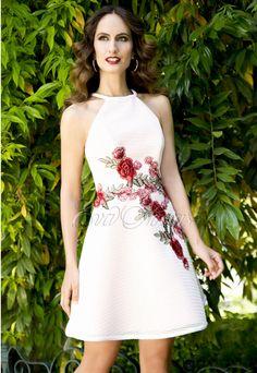 Vestido de fiesta Ana Torres 2016 Modelo 16221 en Eva Novias Madrid. #vestidos #moda #invitada #ceremonia #dress #fashion