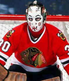 Murray Bannerman. Painted goalie mask