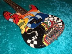 Printer Projects New York Printing Architecture Sculptural Fashion Custom Bass Guitar, Custom Electric Guitars, Custom Guitars, Guitar Painting, Guitar Art, Cool Guitar, Fender Usa, Fender Guitars, Usa Customs