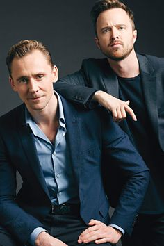 Actors on Actors — Exclusive Emmy Portraits. Tom Hiddleston and Aaron Paul. Link: http://variety.com/gallery/actors-on-actors-photos-lady-gaga-kerry-washington-tom-hiddleston/#!5/undefined/