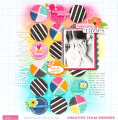 Scrapbook Page Layouts, My Scrapbook, Scrapbooking, White Pen, Happy Today, Paper Crafts, Diy Crafts, Let Them Talk, Pattern Paper