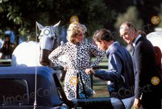 July 28, 1985:  Princess Diana attends the Cartier International Polo Match at the Guards Polo Club in Windsor  Photo by Alan Davidson-alpha--Globe Photos