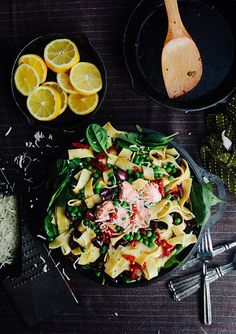 Tomato and Spinach Pasta with Salmon | Some the Wiser