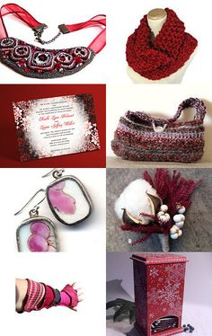 CHRISTMAS IN JULY IN BURGUNDY.... by Nancy Henry on Etsy--Pinned with TreasuryPin.com