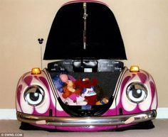 Repurposing old VW bug into children's toy box