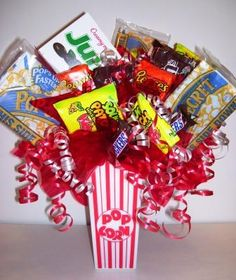 Candy Bouquets - Candy Gifts and Crafts, Candy Bouquets, Centerpieces, Handmade Crafts, Hand Painted Glassware/Bucket - ecomPlanet Web Hosting - the Free hosting solution worldwide by darlene Craft Gifts, Diy Gifts, Candy Arrangements, Candy Centerpieces, Candy Boquets, Holiday Gifts, Christmas Gifts, Christmas Parties, Just In Case