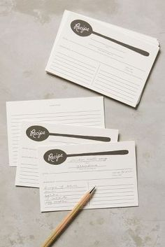 Soup Spoon Recipe Cards | Anthropologie