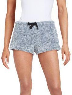 Roudelain Faux Fur Pajama Shorts