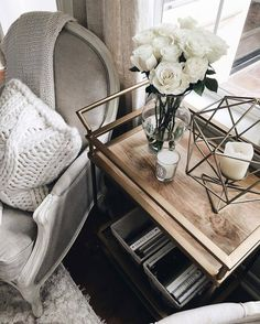 Home accessory: tumblr home decor furniture home furniture flowers table chair knitted pillow pillow